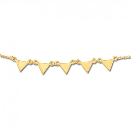 Bracelet plaqué or triangles