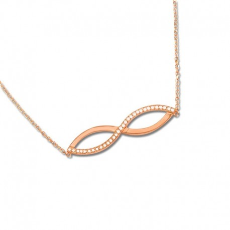 Collier plaqué or rose oxydes