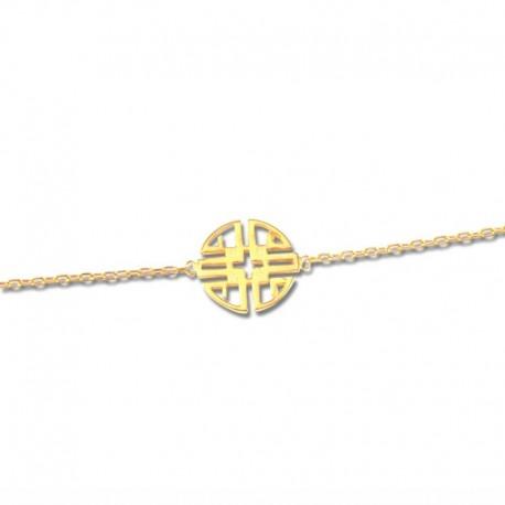 """Bracelet plaqué or motif """"sérénité"""""""