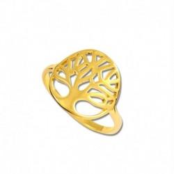 Bague plaqué or arbre de vie