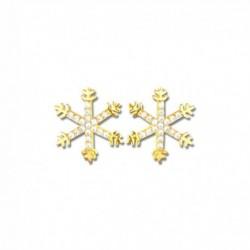 Boucles d'oreilles plaqué or étoile de neige oxydes