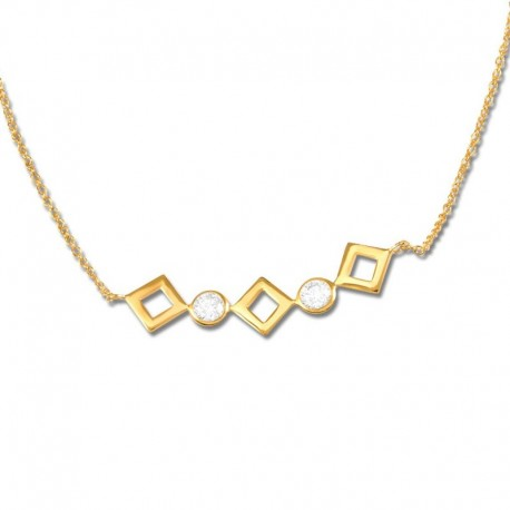 Collier plaqué or oxydes