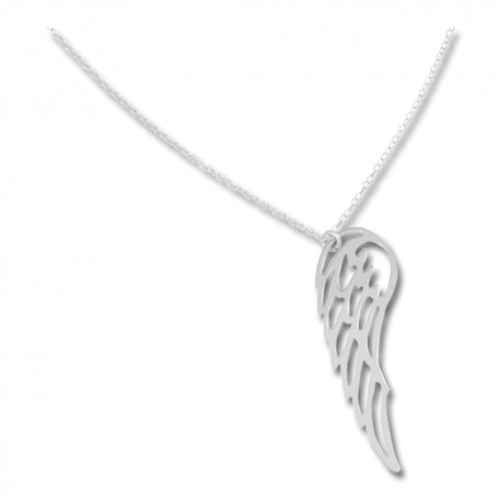 Collier argent avec pendentif aile