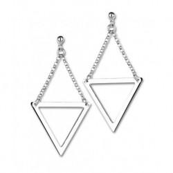 Boucles d'oreilles triangle argent