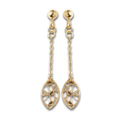 Boucles d'oreilles or 9 carats filigrane