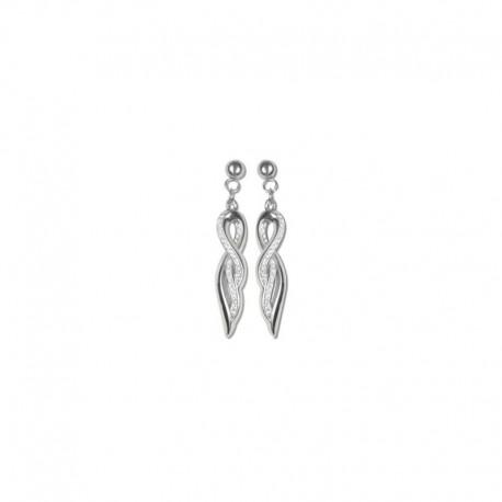 Boucles d'oreilles longue cristal