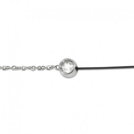 Bracelet cordon et cristal