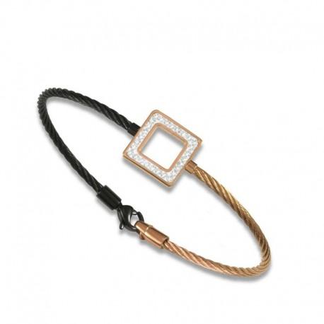 Bracelet câble cristal