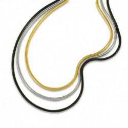 Bracelet maille serpent tricolore