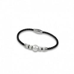 Bracelet cristal et perle