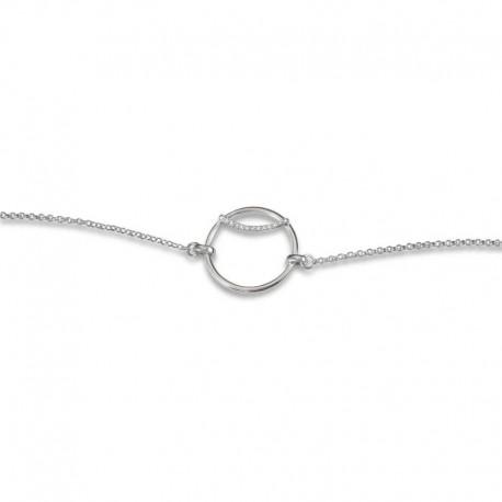 Bracelet cercle argent et oxydes
