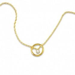 Collier cercle plaqué or et oxyde