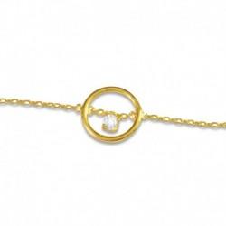 Bracelet cercle plaqué or et oxyde