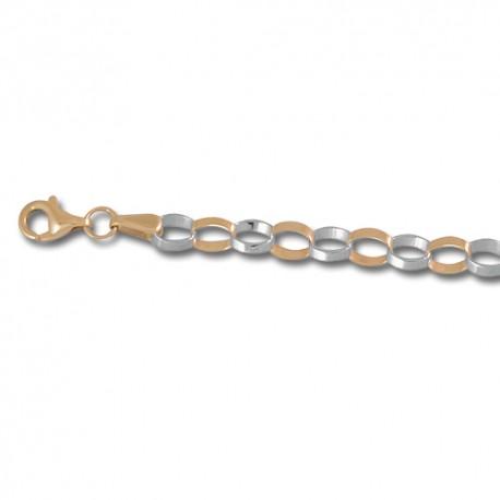 Bracelet or 9 carats bicolore