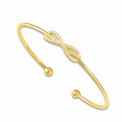 Bracelet plaqué or jonc infini oxydes