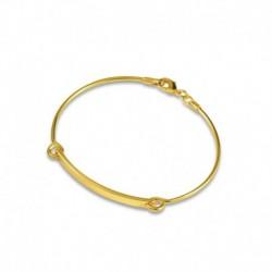 Bracelet plaqué or plaque