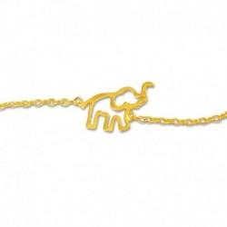 Bracelet plaqué or éléphant