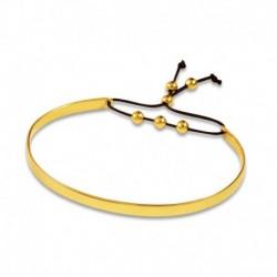 Bracelet plaqué or jonc coulissant