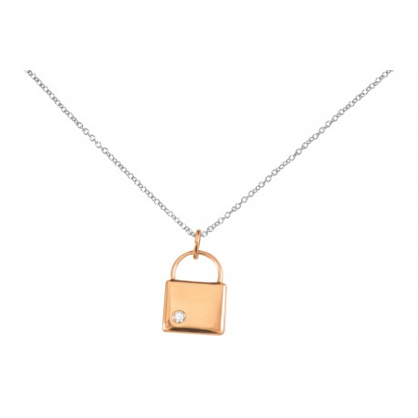 Collier argent oxyde