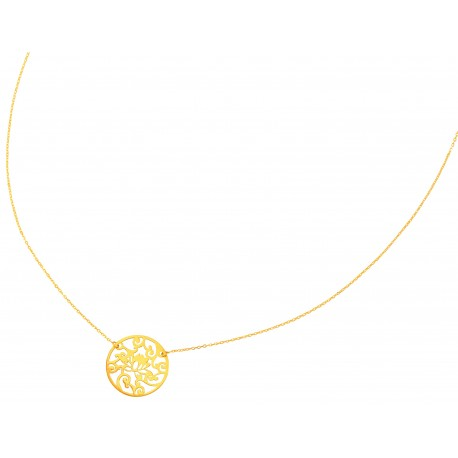 Collier Or Rond Filigrane