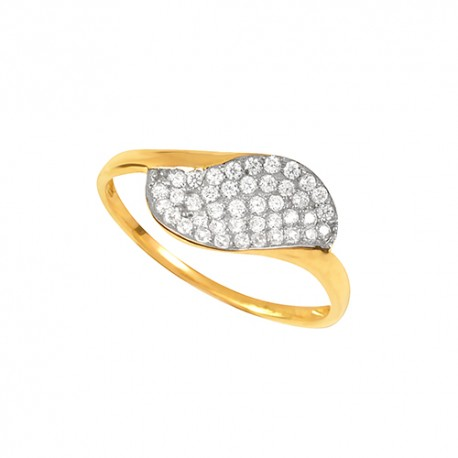 Bague or 9 carats oxydes