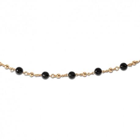 Bracelet plaqué or onyx