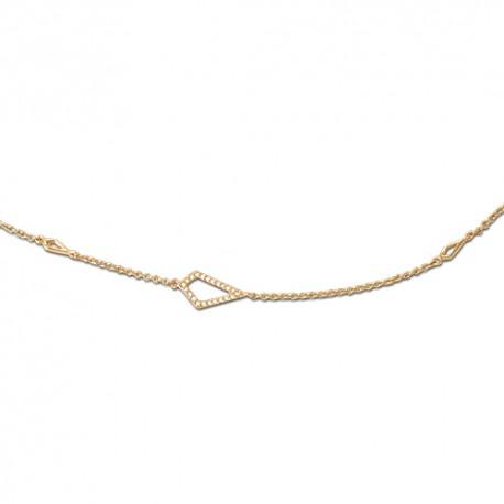 Bracelet plaqué or oxydes