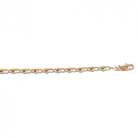 Bracelet plaqué or boules