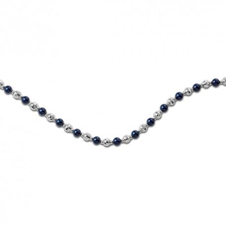 Bracelet argent perles de synthèse