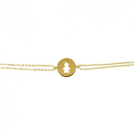 Bracelet plaqué or jeton garçon