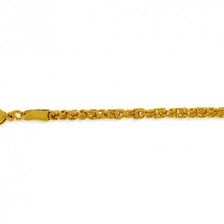 Collier plaqué or maille royale ronde