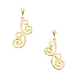 Boucles d'oreilles plaqué or arabesque