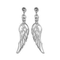 Boucles d'oreilles argent ailes
